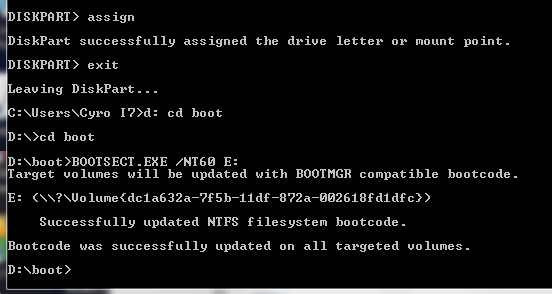 How To Make Bootable USB Drive For Windows 7, 8, 8.1, 10 Using Command Prompt - Creating Boot Sector